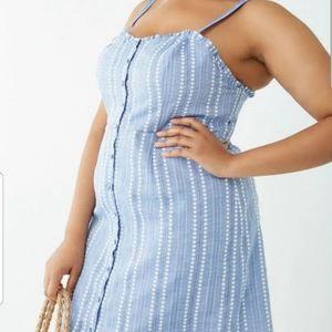 Denim style plus size dress
